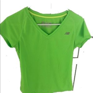Women's NB Neon Green Athletic Shirt